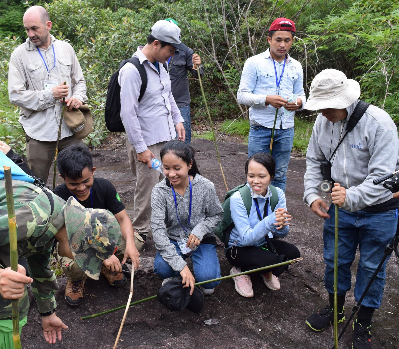 Young conservationists practice their new field skills